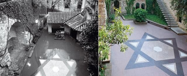 Courtyard of Jewish quarter in Girona