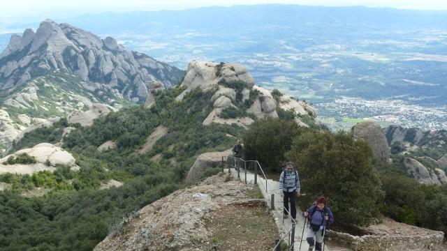 Hicking in Montserrat towards Sant Jeroni
